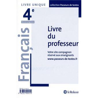 Francais 4eme Professeur Passeurs De Textes Cycle 4 2016