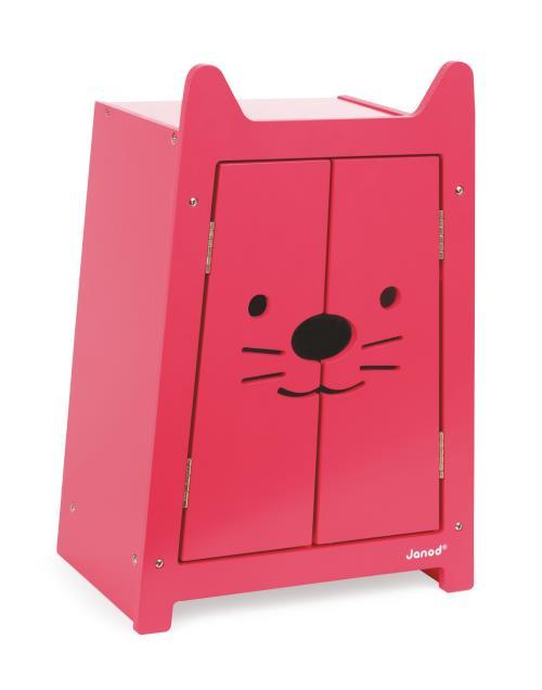 Armoire pour vêtements de poupées Janod Babycat 36cm Rose