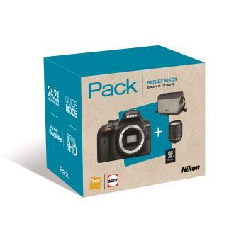 Pack Fnac Reflex Nikon D3400 + Objectif AF-S DX Nikkor 18-105 mm f/3.5-5.6 G ED VR + Tas + Geheugenkaart SDHC 16 Go