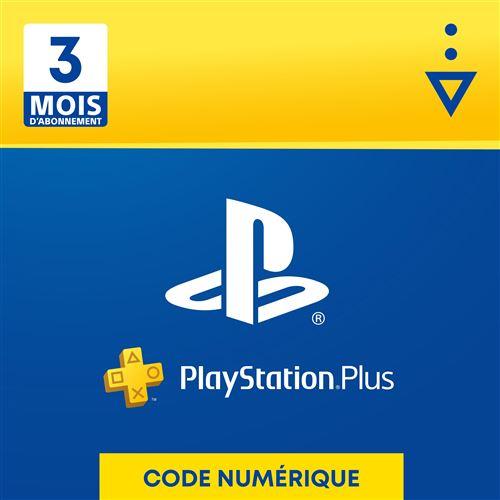 PlayStation Plus 3 mois, Code à télécharger