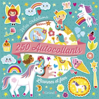 250 autocollants - Licornes et fées