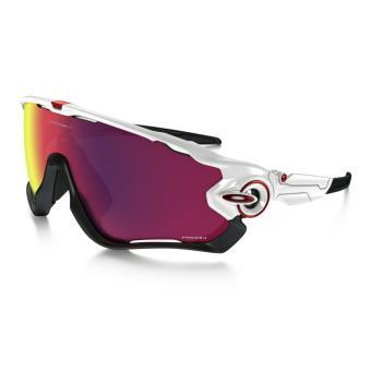 Lunettes de soleil Sport Vélo Oakley Jawbreaker PRIZM Road Blanche, noire  et violette 36f3f56802df
