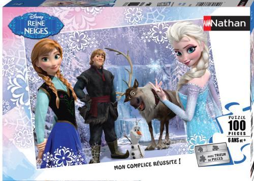 Puzzle 100 pièces Nathan Disney La Reine des Neiges