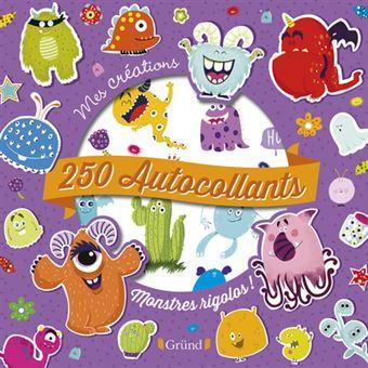 250 autocollants - Monstres rigolos !