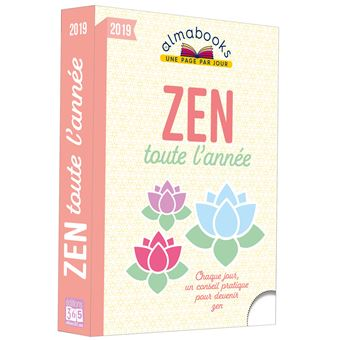 Almabook Zen toute l'année 2019