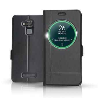 Etui Ibroz Smart View Cover Noir Pour Asus ZenFone 3 Max 52