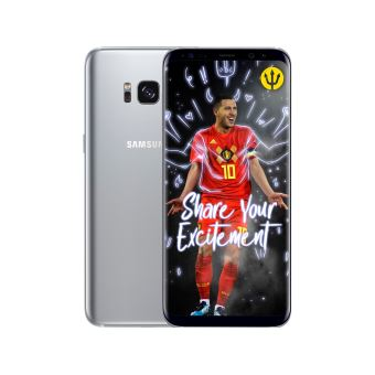 Smartphone Samsung Galaxy S8+ 64GB Silver + Red Devils Smart Cover