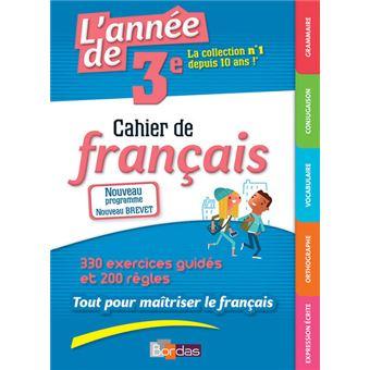 L Annee De 3e Cahier De Francais