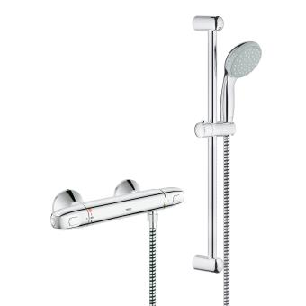 Mitigeur thermostatique douche avec ensemble de douche grohe grohtherm 1000 34557000 - Ensemble douche thermostatique grohe ...