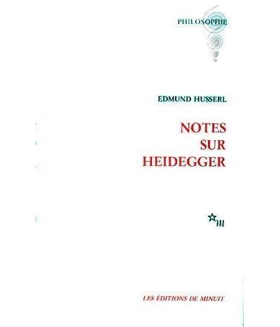 Notes sur Heidegger