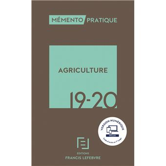 Memento agriculture 2019-2020