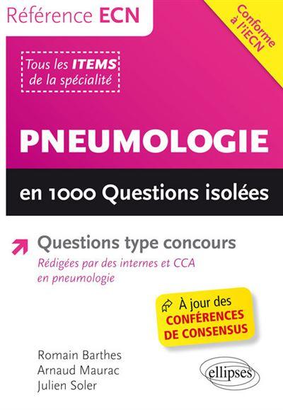 Les 1000 questions isolées de la pneumologie
