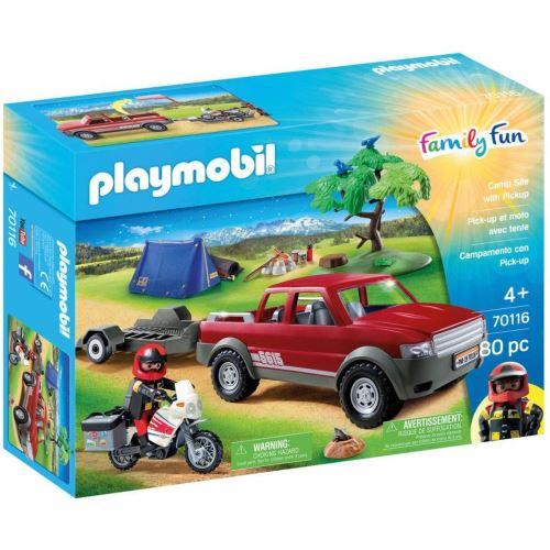 Jeu Playmobil Family Fun Pick Up Et Moto Avec Tente Autre Jeu De Plein Air Achat Prix Fnac
