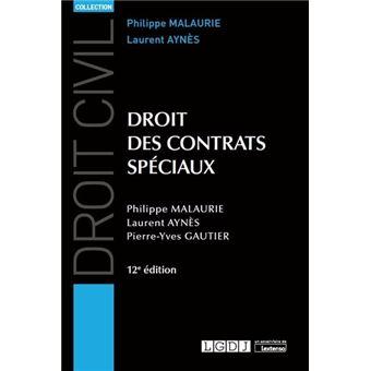 Droit Des Contrats Speciaux 10eme Edition