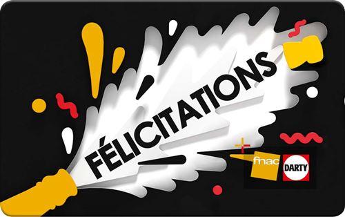 Carte Cadeau Fnac Valable.E Carte Cadeau Fnac Felicitations