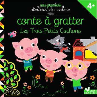 Les 3 petits cochonsConte à gratter Les 3 petits cochons