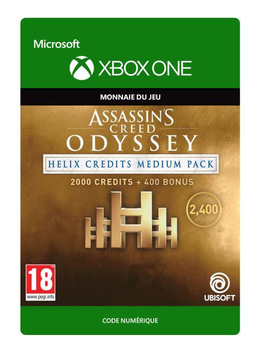 Code de téléchargement Assassin's Creed Odyssey: Pack Moyen de Crédits Helix Xbox One