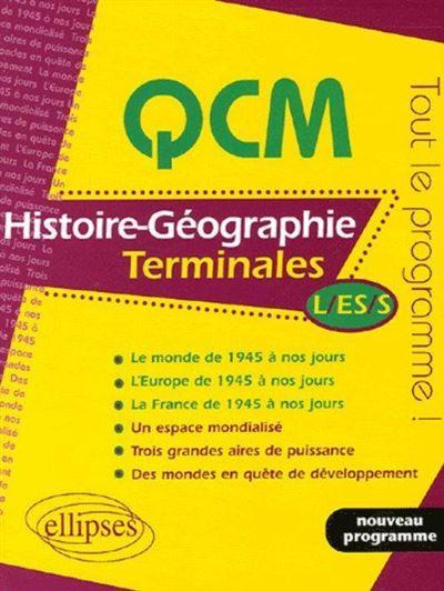 QCM Histoire-Géographie Term L, ES, S