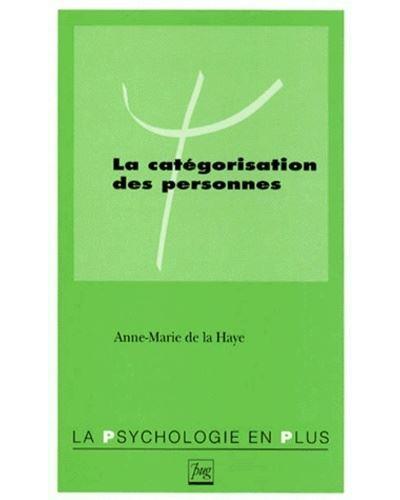 Categorisation des personnes (la)
