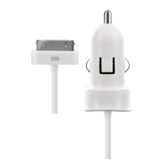 Chargeur allume cigare Blueway 30 Pin Blanc
