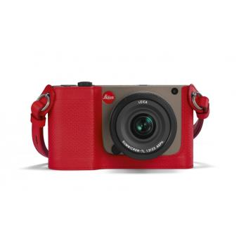 Protection Leica pour TL en cuir Rouge