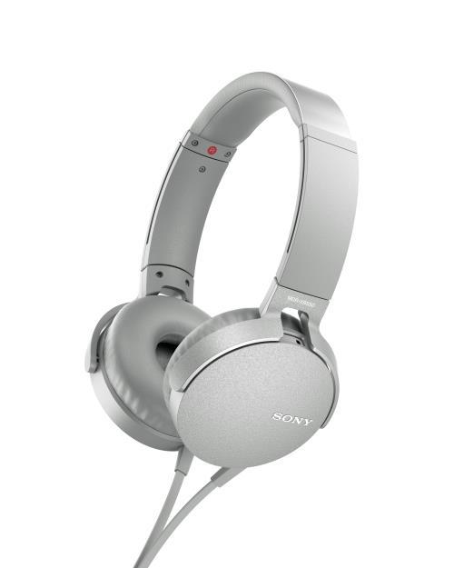 Casque audio Sony Extra Bass Téléphonie MDRXB550AP Blanc