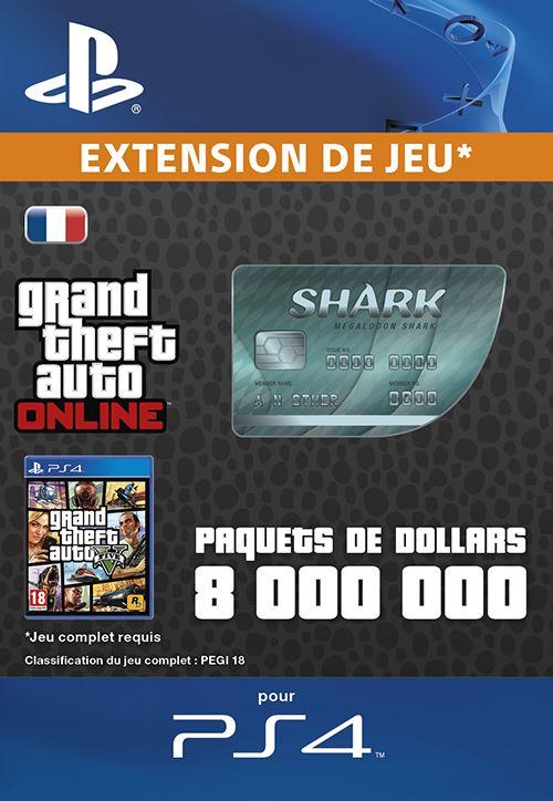 GTA V : Megalodon Shark Cash Card PS4 code de téléchargement