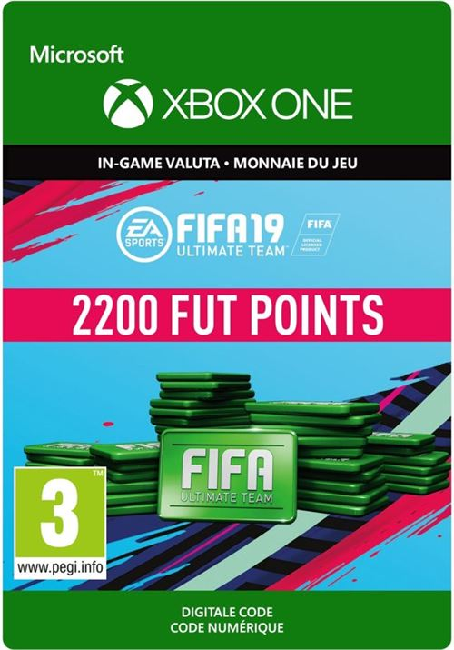 Code de téléchargement FIFA 19 Ultimate Team 2200 Points Xbox One