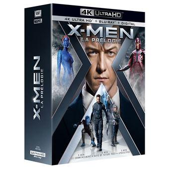 X-MenCoffret X-Men La prélogie Blu-ray 4K Ultra HD