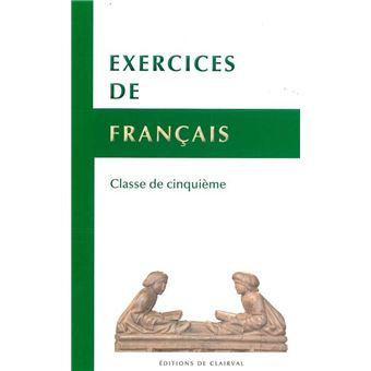 Exercices De Francais Classe De 5eme