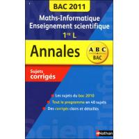 Annales bac 2011 maths/inform