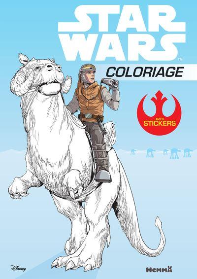 Star Wars -  : Disney Star Wars Coloriage avec stickers