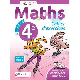 Iparcours Maths 4eme Cycle 4 Cahiers D Exercices Workbook Edition 2019 Broche Katia Hache Sebastien Hache Achat Livre Fnac