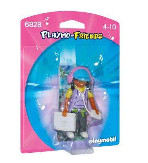 PLAYMO-FRIENDS : Les nouvelles figurines à collectionner ! Jeune fille avec casquette, tablette et baladeur.