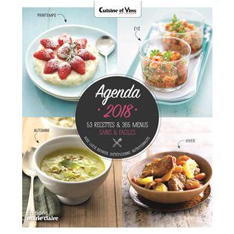 Agenda 2018 cuisine et vins de france des menus sains et - Livre de cuisine facile pour tous les jours ...