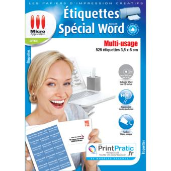 Micro Application Etiquettes Special Word