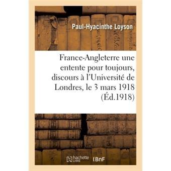 France-angleterre, une entente pour toujours  discours prono