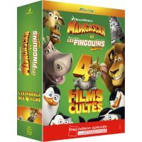 L'intégrale Madagascar + Les Pingouins de Madagascar - Coffret  Fnac 4 Blu Ray