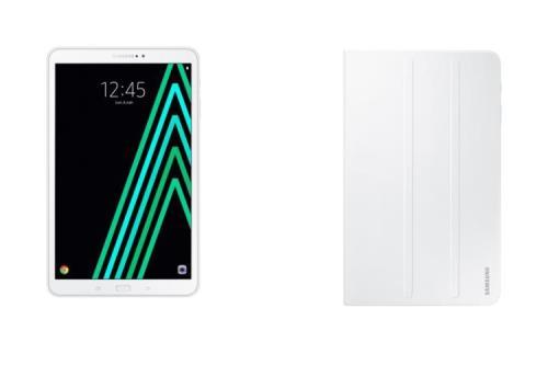 Tablette Samsung Galaxy Tab A6 10.1 32 Go Blanc + Etui à rabat Blanc