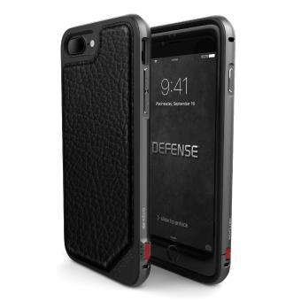 Coque Xdoria Defense Lux Cuir Noir pour iPhone 7 Plus