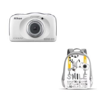 Compact Nikon Coolpix W100 Blanc + Sac