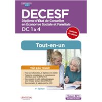DECESF - DC 1 à 4 - Préparation complète pour réussir sa formation  Tout-en-un