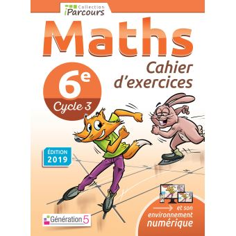 Maths 6eme Cahier D Exercices Workbook Cycle 4