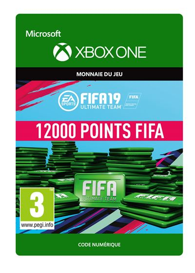 Code de téléchargement FIFA 19 Ultimate Team 12000 Points Xbox One