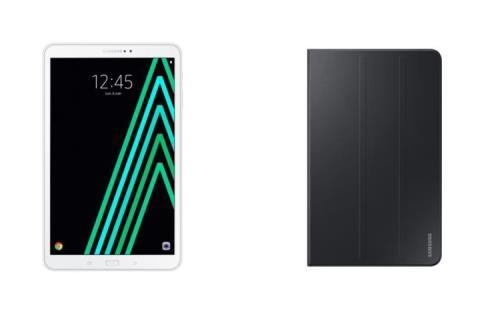 Tablette Samsung Galaxy Tab A6 10.1 32 Go Blanc + Etui à rabat Noir