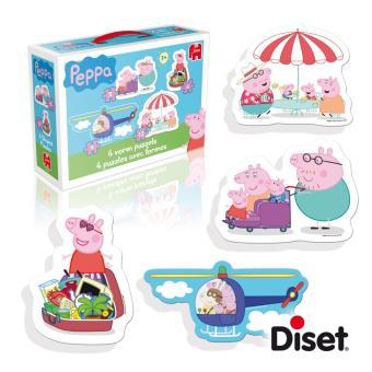 4 Puzzles avec formes Peppa Pig Diset