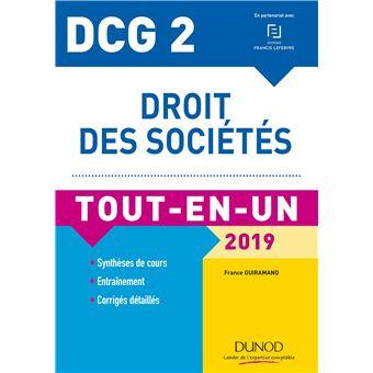 Dcg 2 droit des societes 2018-2019 tout-en-un