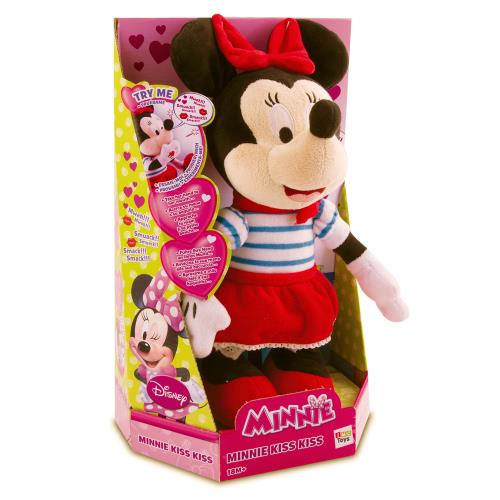 Peluche interactive Mickey & Friends Minnie Kiss Kiss 25 cm
