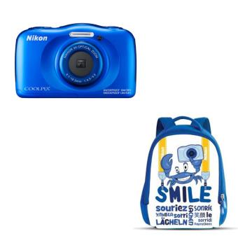 Compact Nikon Coolpix W100 Bleu + Sac