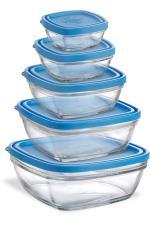 DURX Lot de 5 boîtes en verre Duralex
